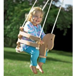 Kid's Wooden Horse Swing