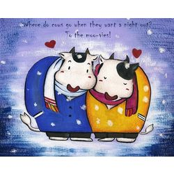 Moo-n Lit Night Personalized Art Print