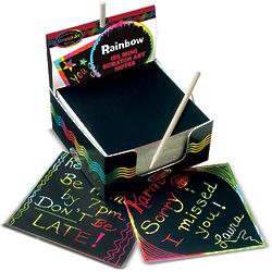 Rainbow Scratch Art Notepad