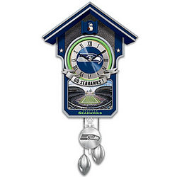 Seattle Seahawks Tribute Cuckoo Clock