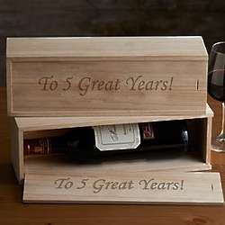 Personalized Corporate Wine Bottle Box