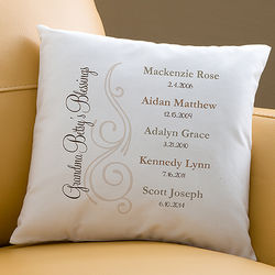 My Grandkids Personalized Throw Pillow