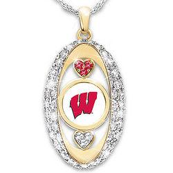 University of Wisconsin Badgers Swarovski Crystal Pendant