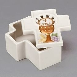 Cross Shaped Memory Box with Chalice