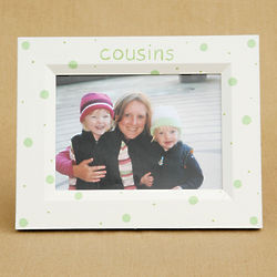 Cousins Hand-Painted Picture Frame with Dot Design