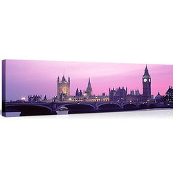 Houses of Parliament London Skyline in the Evening Canvas