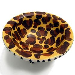 Animal Printed Footed Jewelry Dish