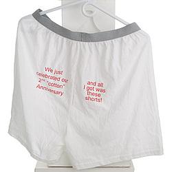 2nd Anniversary Cotton Shorts