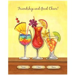 Cool Tropical Drinks III Personalized Print