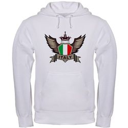 Italy Emblem Hooded Sweatshirt