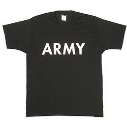 Army Black with White Letters Physical Training T-Shirt