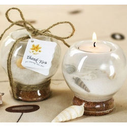 Sand and Shell Tea Light Holder Favor