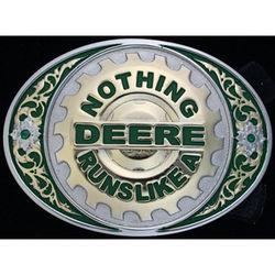Nothing Runs Like a Deere Belt Buckle