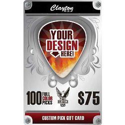 Custom Guitar Pick Gift Card