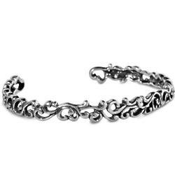 Rodeo Stamped Sterling Silver Filigree Bracelet
