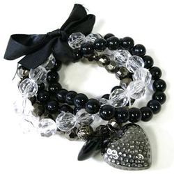 Multilayer Beaded Heart Bracelet