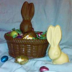 Chocolate Easter Basket with Easter Bunny