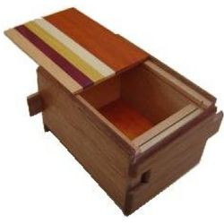 3 Sun, 12 Steps Natural Wood Japanese Puzzle Box