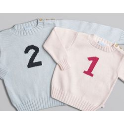 Intarsia Number Sweater