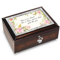 My Sister My Friend Personalized Music Box