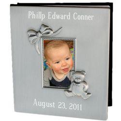 Pewter Finish Baby Photo Album