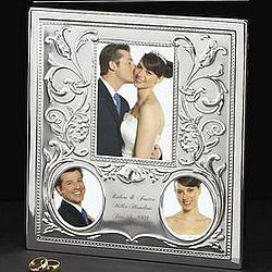 Silver Brushed Wedding Photo Album