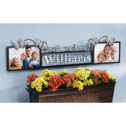 Personalized Live Love Laugh 4x6 Double Frame
