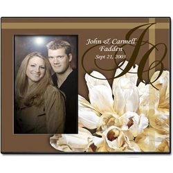 Personalized Brown Tulips Photo Frame