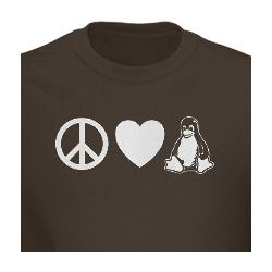 Peace Love Linux T-Shirt