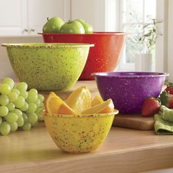 Colorful Confetti Mixing Bowls