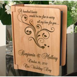Personalized A Hundred Hearts Wooden Photo Album