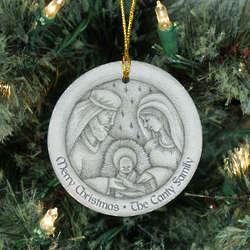 Personalized Ceramic Nativity Ornament