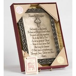 Family Prayer Bronze Plaque