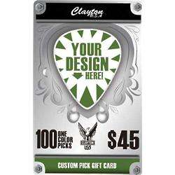 Custom One Color Guitar Picks Gift Card