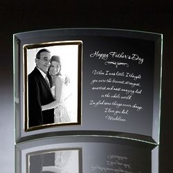 Personalized Father's Day Curved Glass Photo Frame
