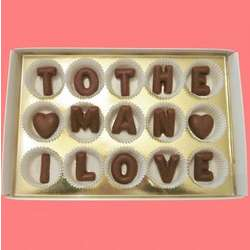 To the Man I Love Large Alphabet Milk Chocolate Gift Box