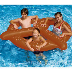 Gigantic Pretzel Pool Float