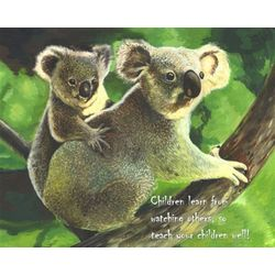 Koala Mom and Baby Personalized Print