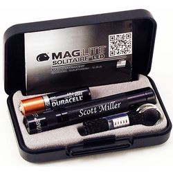 Personalized Solitaire LED Flashlight in Gift Box