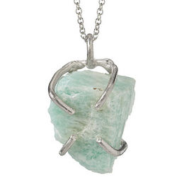 Raw Quartz Birthstone Necklace