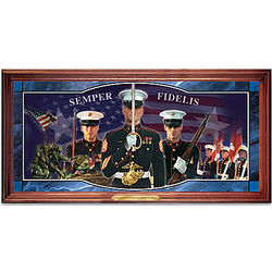 Marines Tradition of Honor Stained Glass Wall Decor