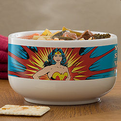 Wonder Woman Personalized Superhero Bowl