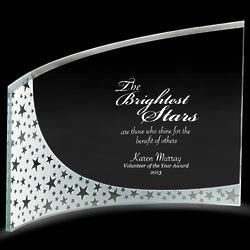 Personalized Slant Glass Award
