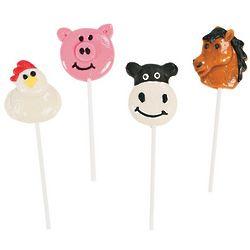 Farm Animal Character Lollipops