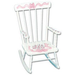 Childrens Hand Painted Personalized Rocking Chair - FindGift.com
