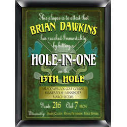 Hole in One Design Personalized Golf Sign