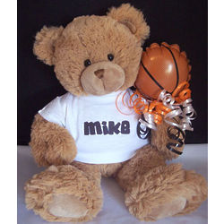 Personalized Basketball Teddy Bear