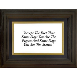 Framed 'Accept the Fact' Life Quote