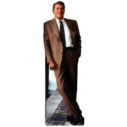 Ronald Reagan Standup in Brown Suit