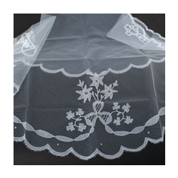Irish Lace First Communion Veil with Celtic Cross